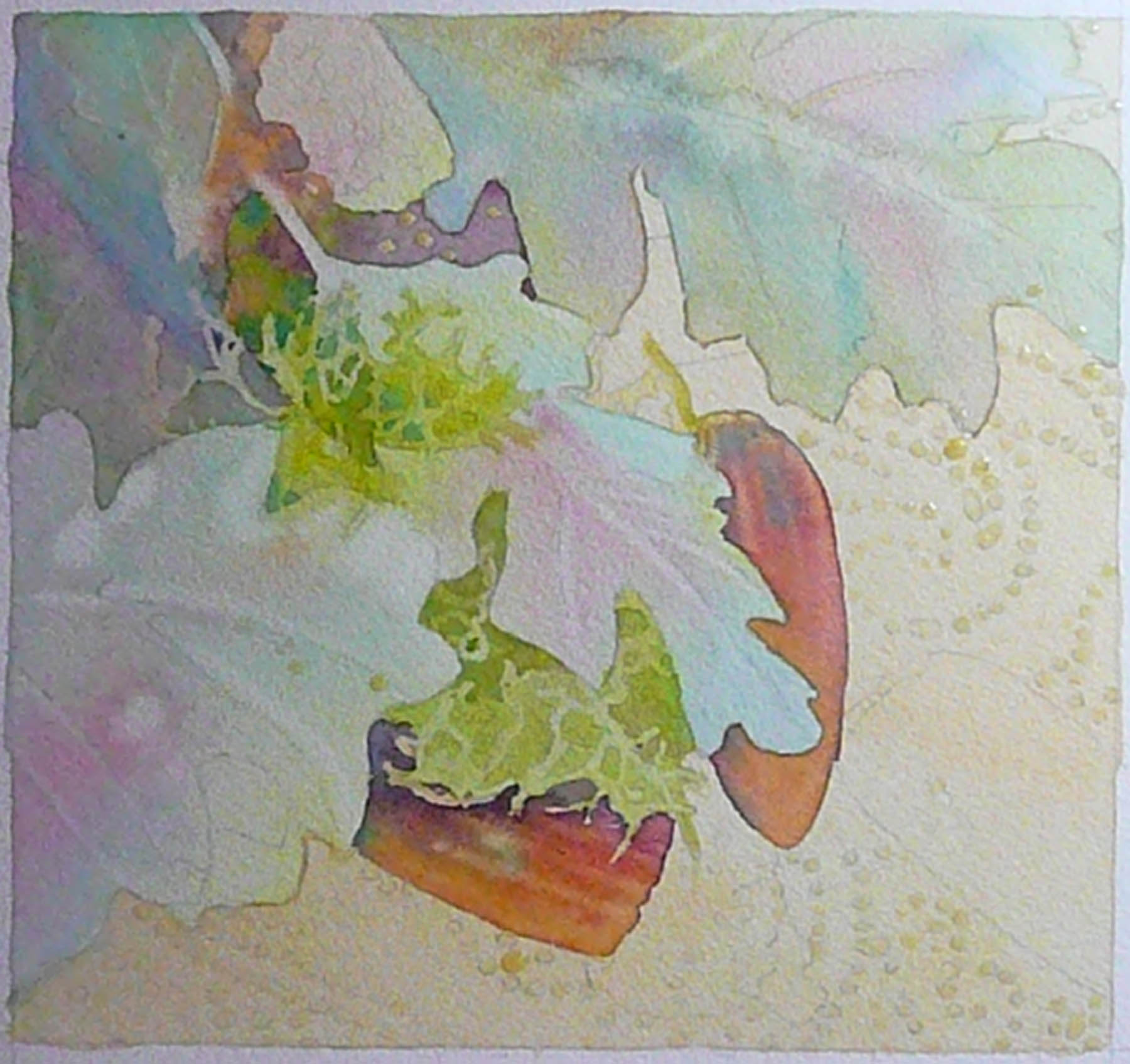 for my beginning watercolor class oak leaves and acorns