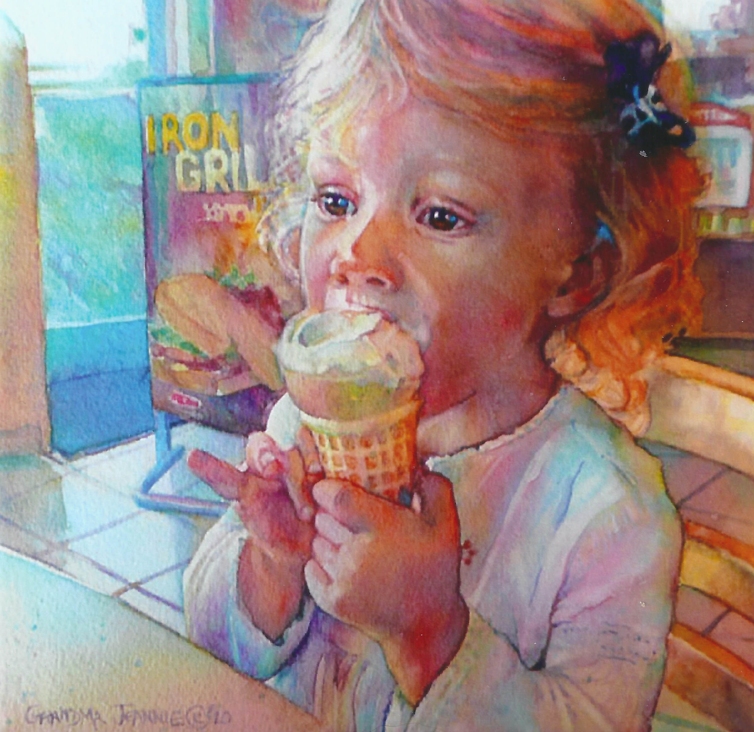 A Double Dip Of Art And Ice Cream Jeannie Vodden Art
